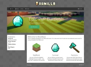 BlockBasic Minecraft Website Template