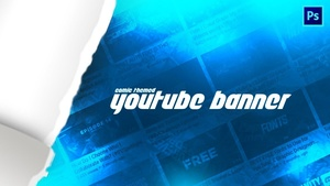 FREE Comic Themed YouTube Banner Template