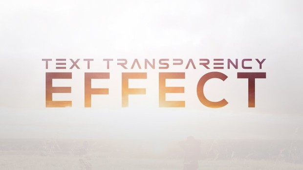FREE Text Transparency Effect Template