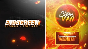 FREE YouTube End Screen/Outro Template